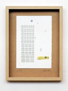 mr. lonely. stampa a ricalco su carta calcografica e mdf cm. 42,5 x 32,5. 2014