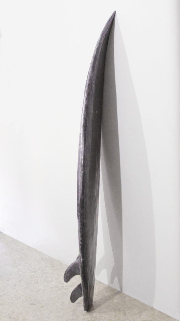 you don't have to be afraid love (part). piombo e vetroresina cm.185x45x16 kg.30,5. 2015