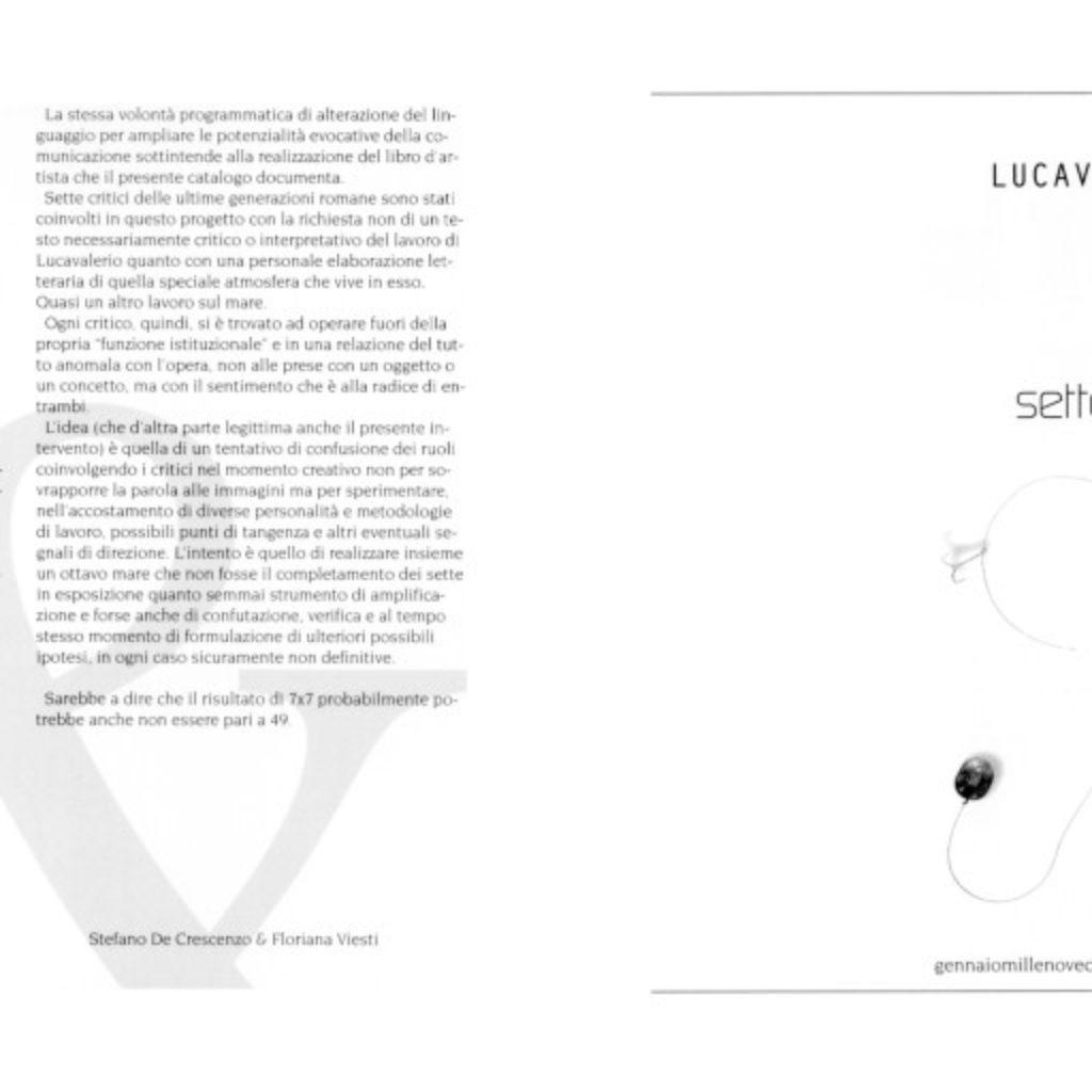 7x7. testo di Stefano De Crescenzo