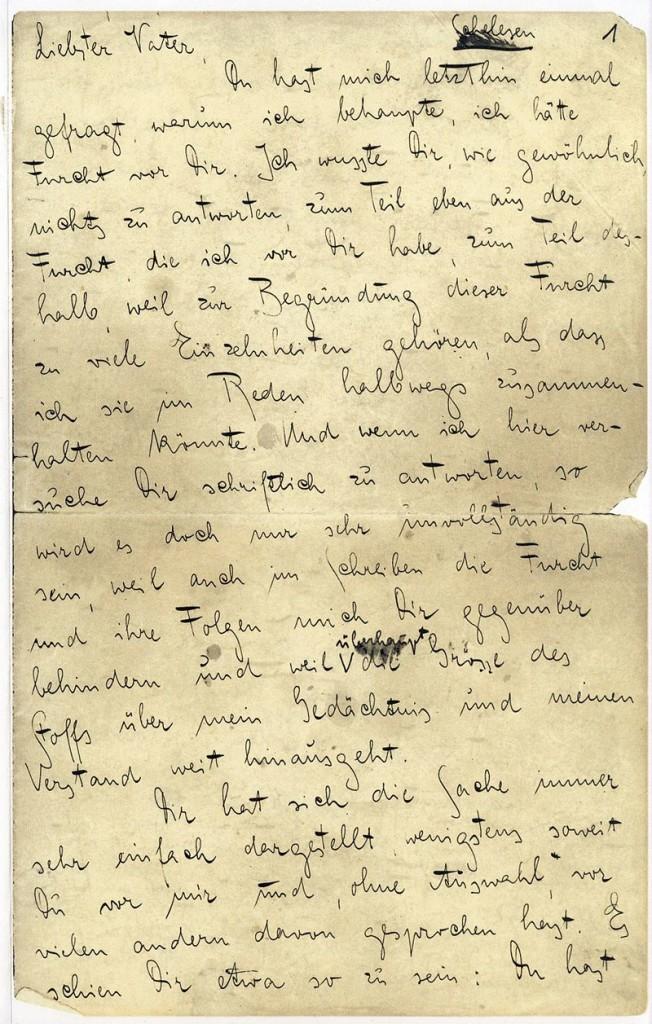 Kafka Brief an den Vater