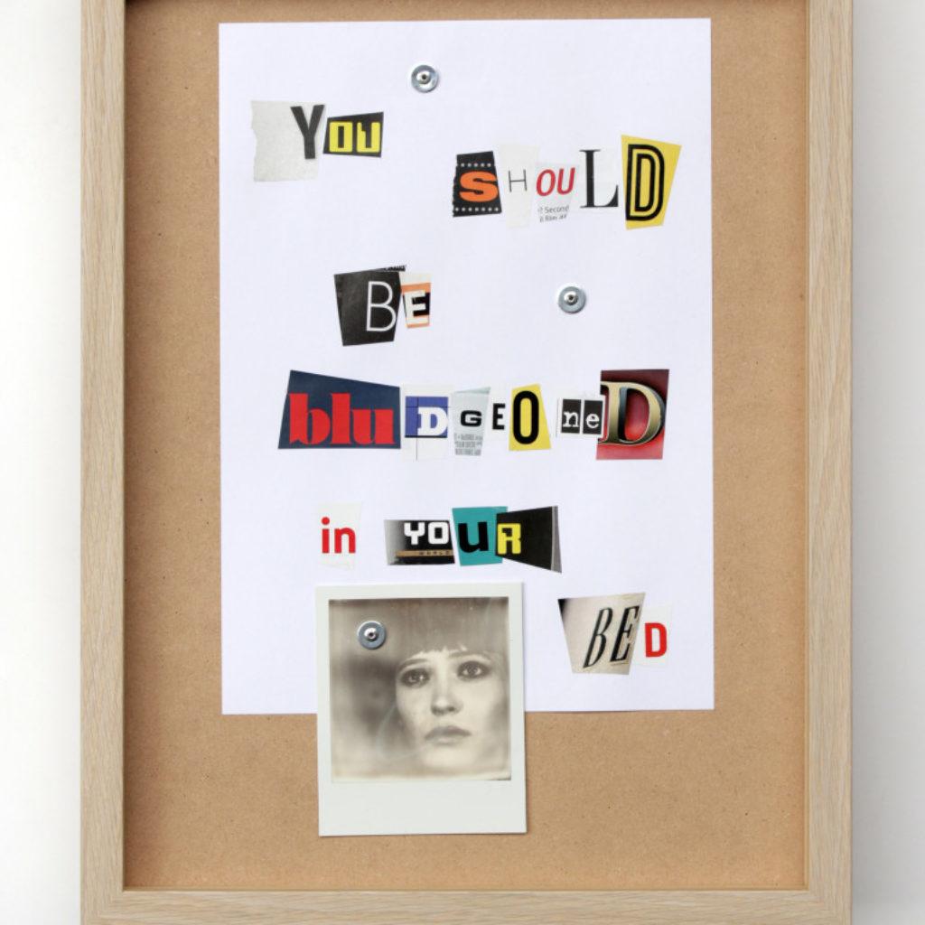 by rights (love song) Giovanni. polaroid e carta su mdf cm. 42,5 x 32,5. 2015