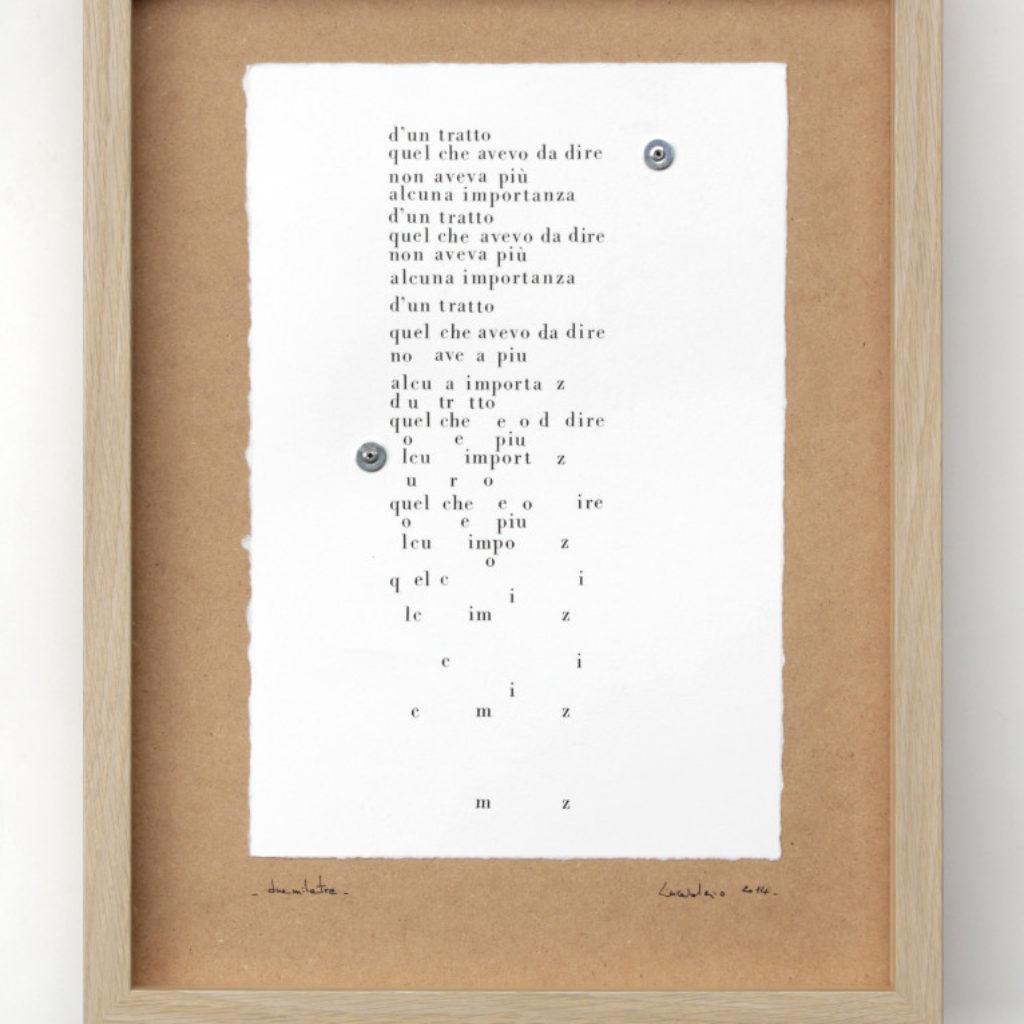 duemilatre. stampa a ricalco su carta calcografica e mdf cm. 42,5 x 32,5. 2014