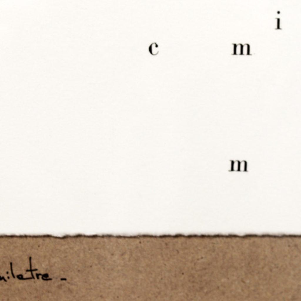 duemilatre (part). stampa a ricalco su carta calcografica e mdf cm. 42,5 x 32,5. 2014