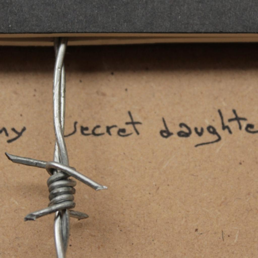 my secret daughter (part). mixed media su mdf cm. 42,5 x 32,5. 2015