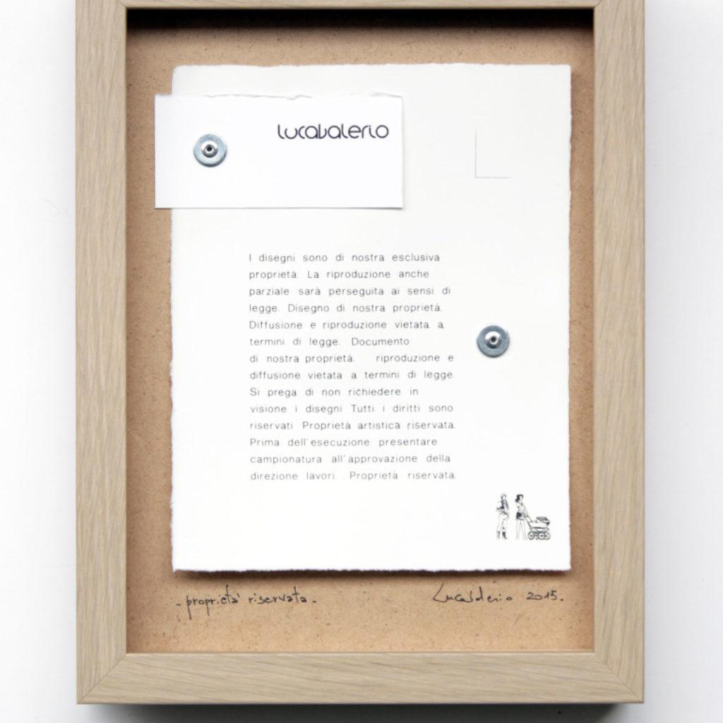 proprietà riservata. stampa digitale e stampa a ricalco su carta e mdf cm. 42,5 x 32,5. 2015
