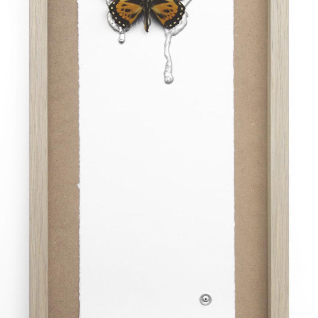 sometimes I feel like. stagno e farfalla su mdf cm. 52,5 x 25,5. 2015