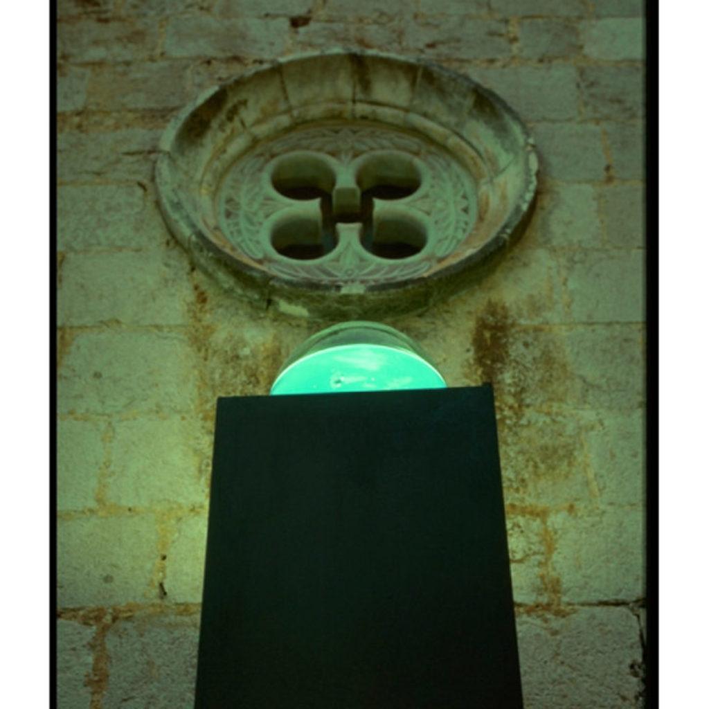 del cielo e della terra (part). legno, acquario, tappeto, luce dimensioni ambientali. cattedrale di San Pietro, Fondi