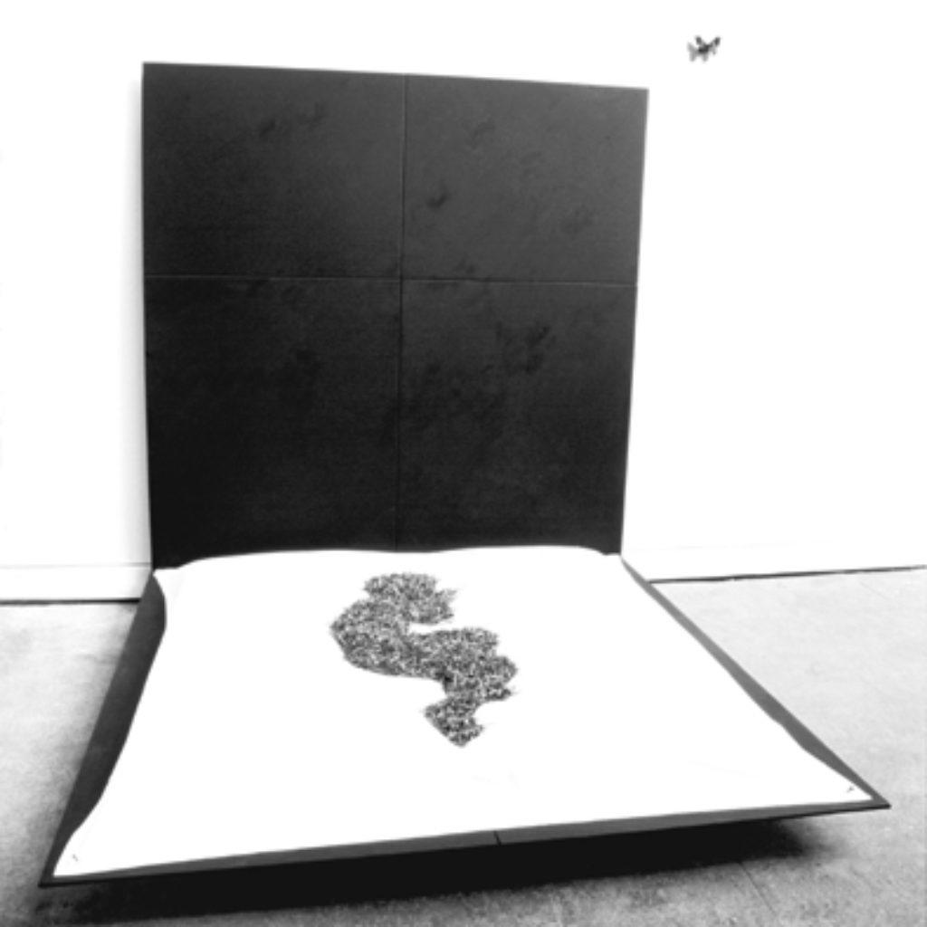 bed of nails. legno, stoffa, chiodi, farfalla dimensioni ambientali. ex Mattatoio, Testaccio, Roma