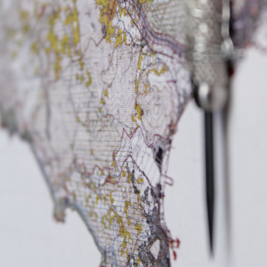find a city (fondi) part. mixed media su mdf cm. 42,5 x 52,5. 2015