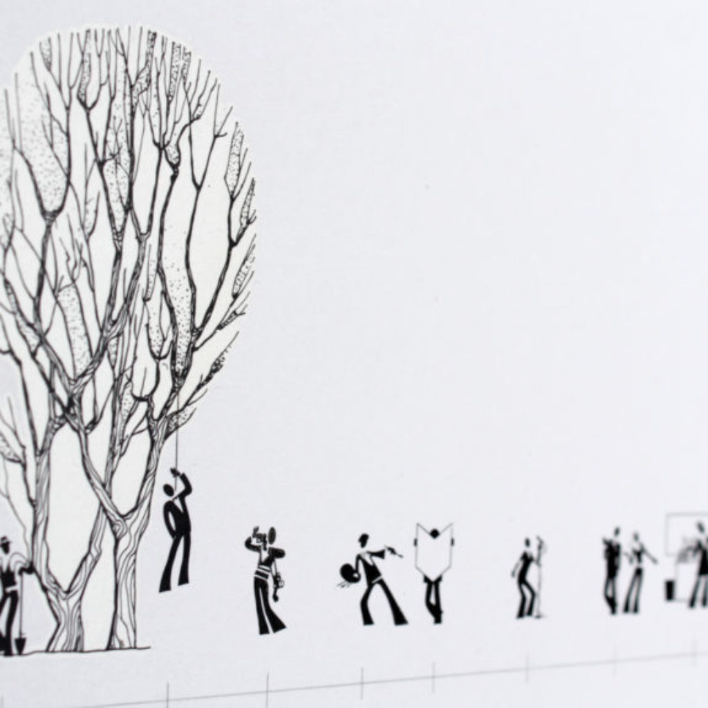 fruit tree (timeline) part. stampa a ricalco su carta calcografica e mdf, cornice. cm. 52,5 x 72,5. 2015
