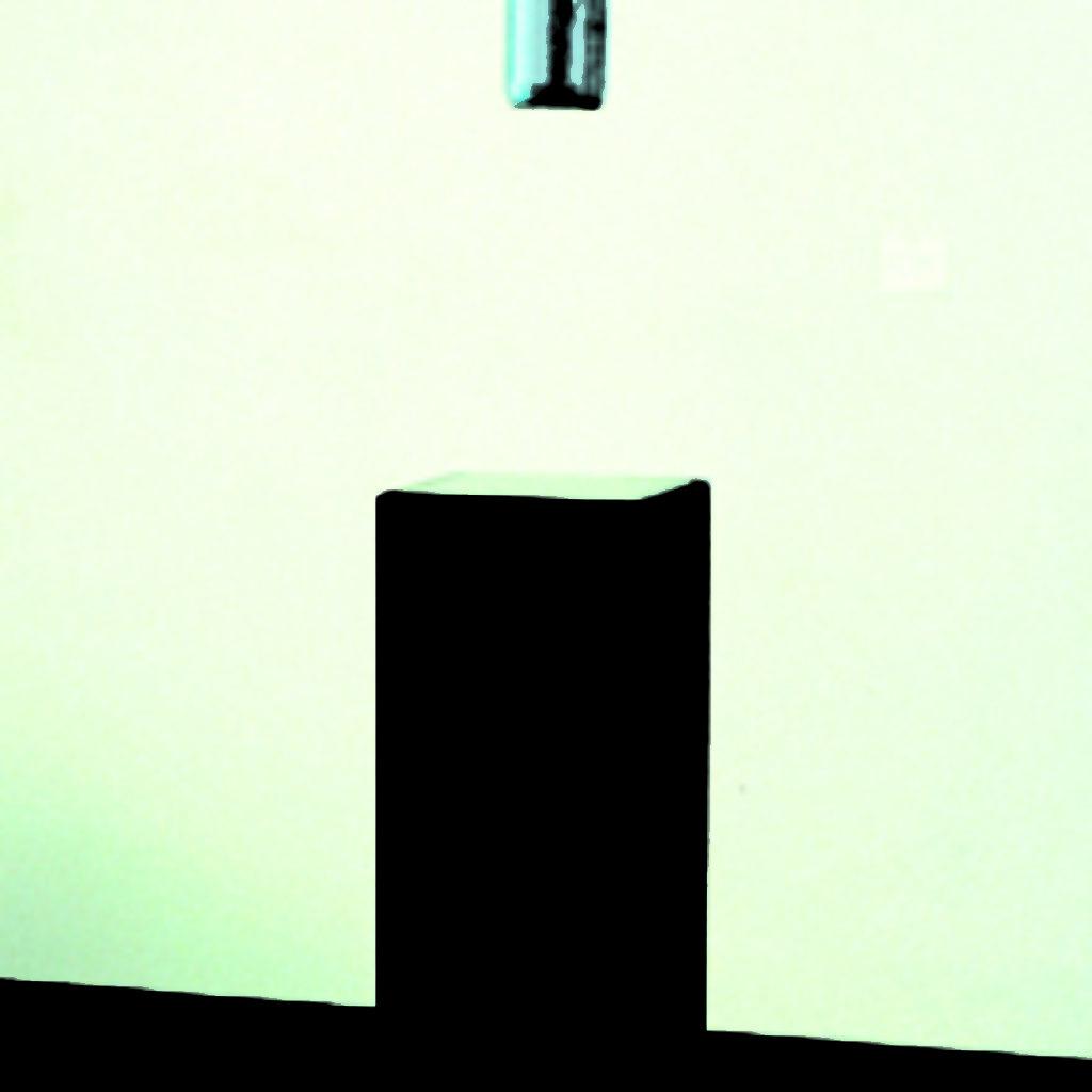waiting for you. bottiglia, resina, attrezzatura da pesca, base in legno, cm. 27 x 27 x 200. 1997