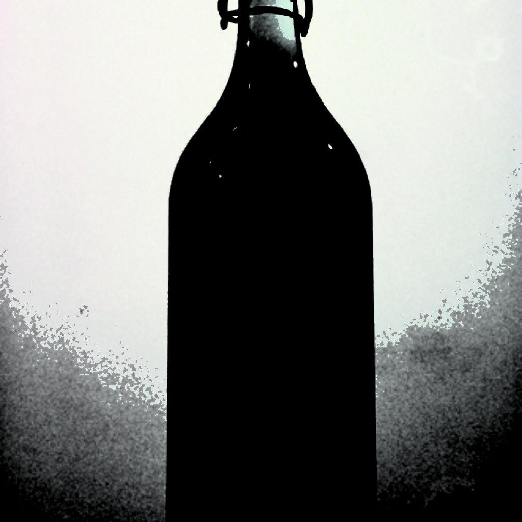 waiting for you (part). bottiglia, resina, attrezzatura da pesca, base in legno, cm. 27 x 27 x 200. 1997