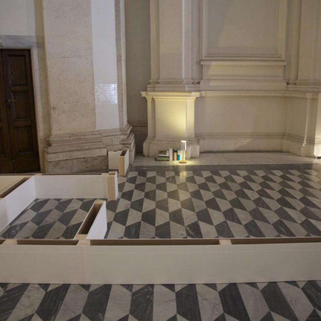 INNOMINEDOMINI (pareti). sala santa rita, dimensioni ambientali. 2016